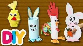 4 Amazing EASTER CRAFTS you can do with your kid | Fast-n-Easy | DIY Arts & Crafts for Kids