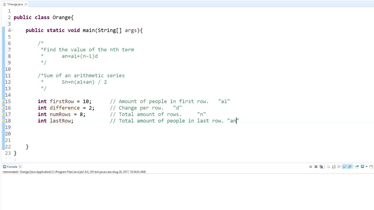 Java Programming Tutorial - 6 - Using Math equations in Java