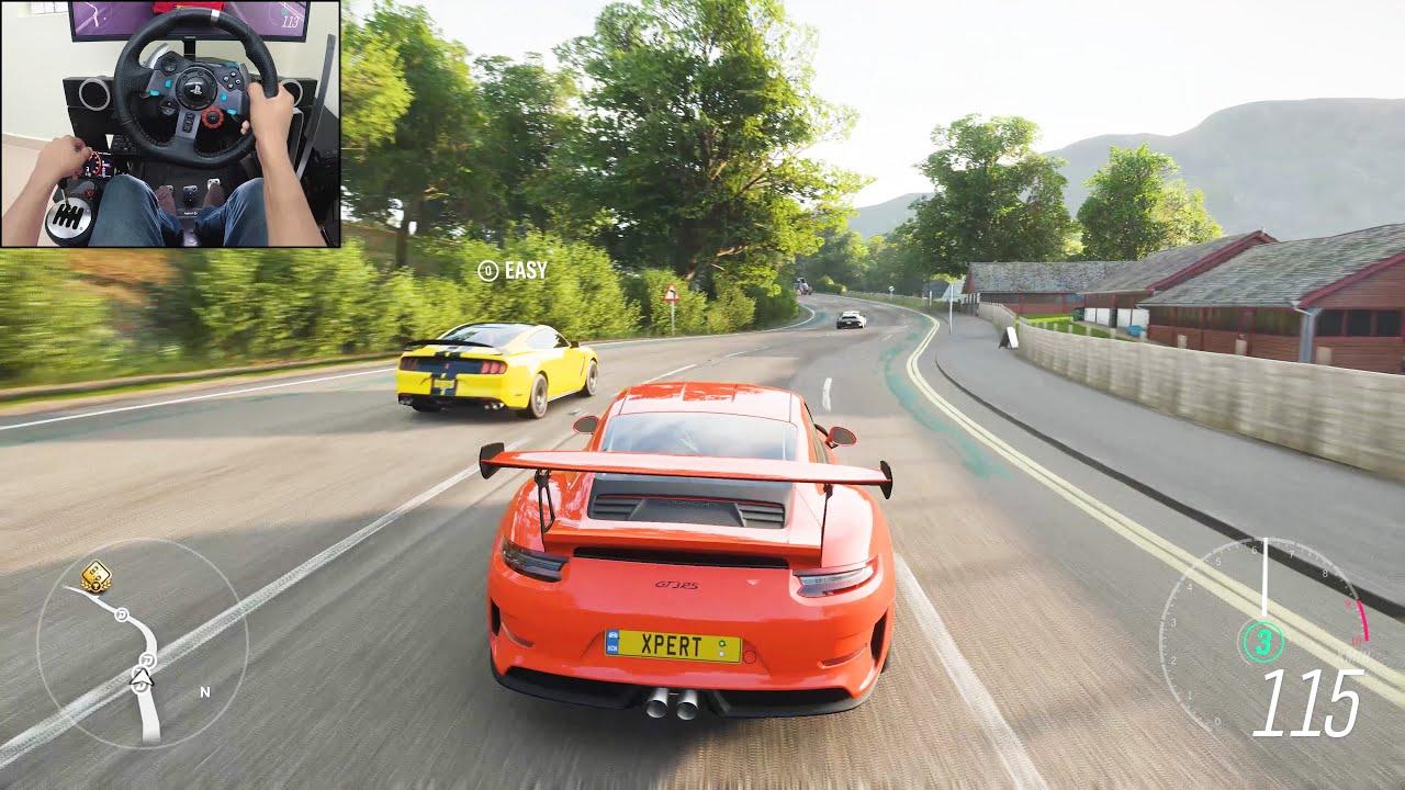 2019 Porsche 911 GT3 RS - Forza Horizon 4 | Logitech g29 gameplay thumbnail