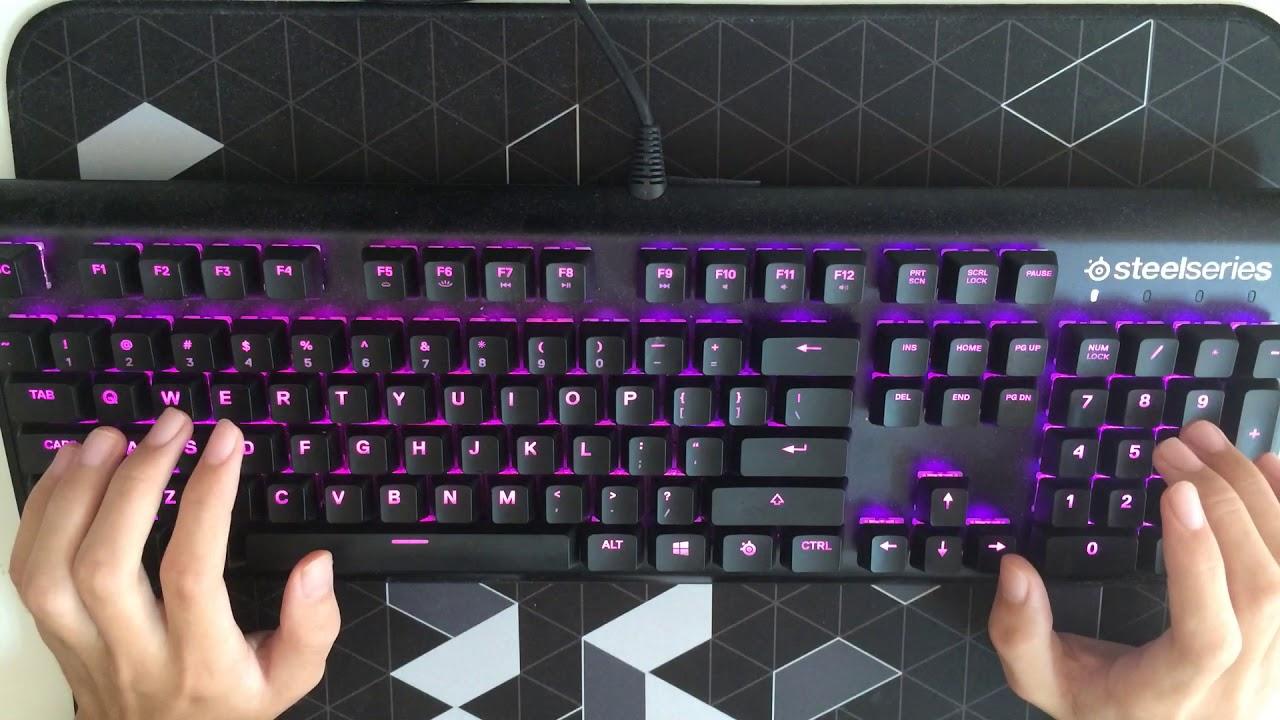 SteelSeries Apex M750 typing sound 打鍵音