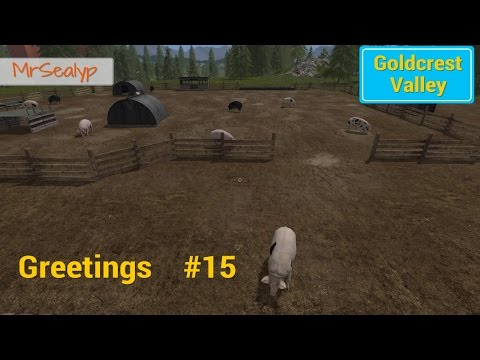 Let's Play Farming Simulator 17 PS4: Goldcrest Valley Greetings, #15 (Buying Pigs)