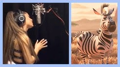 Ariana Grande Recording for 'Earth' - Behind the Scenes