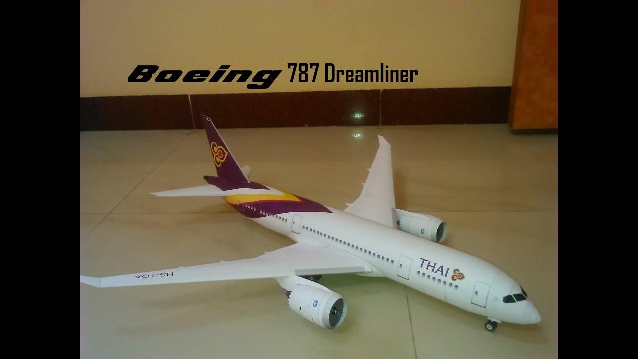 Boeing 787 Dreamliner Thai Airways Paper Model