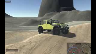 Repeat youtube video Unity Realistic Vehicle Physics - Jeep Wrangler Test