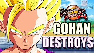 "THE UNSTOPPABLE GOHAN!! - Dragon Ball FighterZ: ""Gohan Teen"" ""Cell"" Gameplay"
