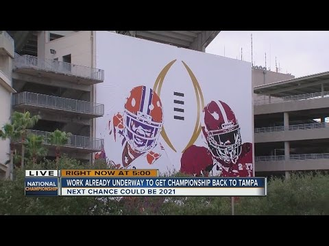 Work already underway to bring National Championship game back to Tampa