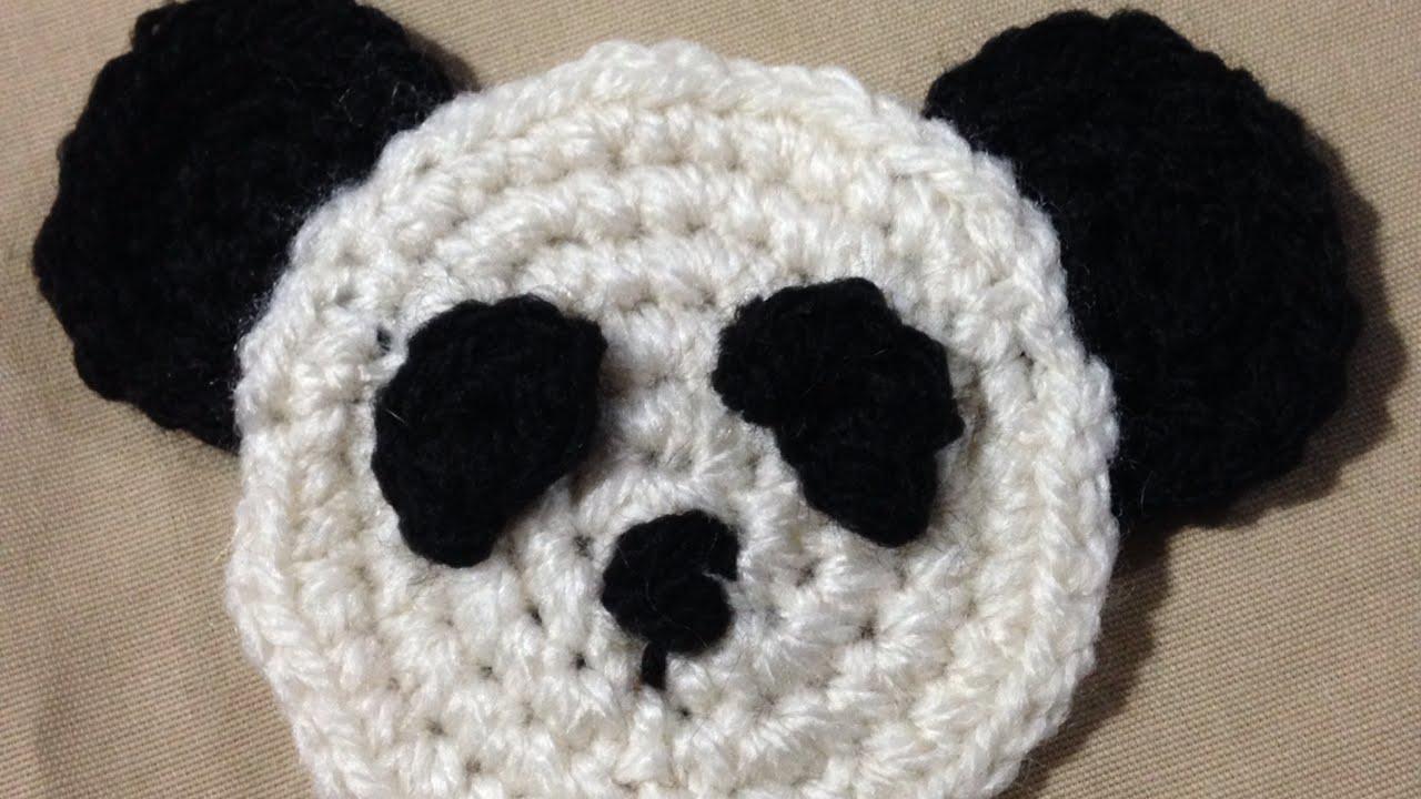 How To Crochet A Simple Panda Bear Applique Diy Crafts Tutorial