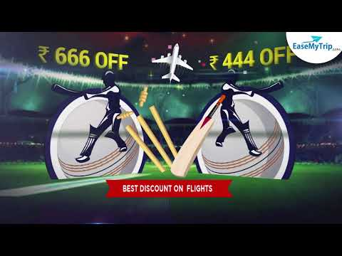 Enjoy Cricket Fever with  Attractive Discounts on Flights with EaseMyTrip