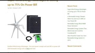 Awesome Wind Energy Advantages    Save up to 57% on Power Bill