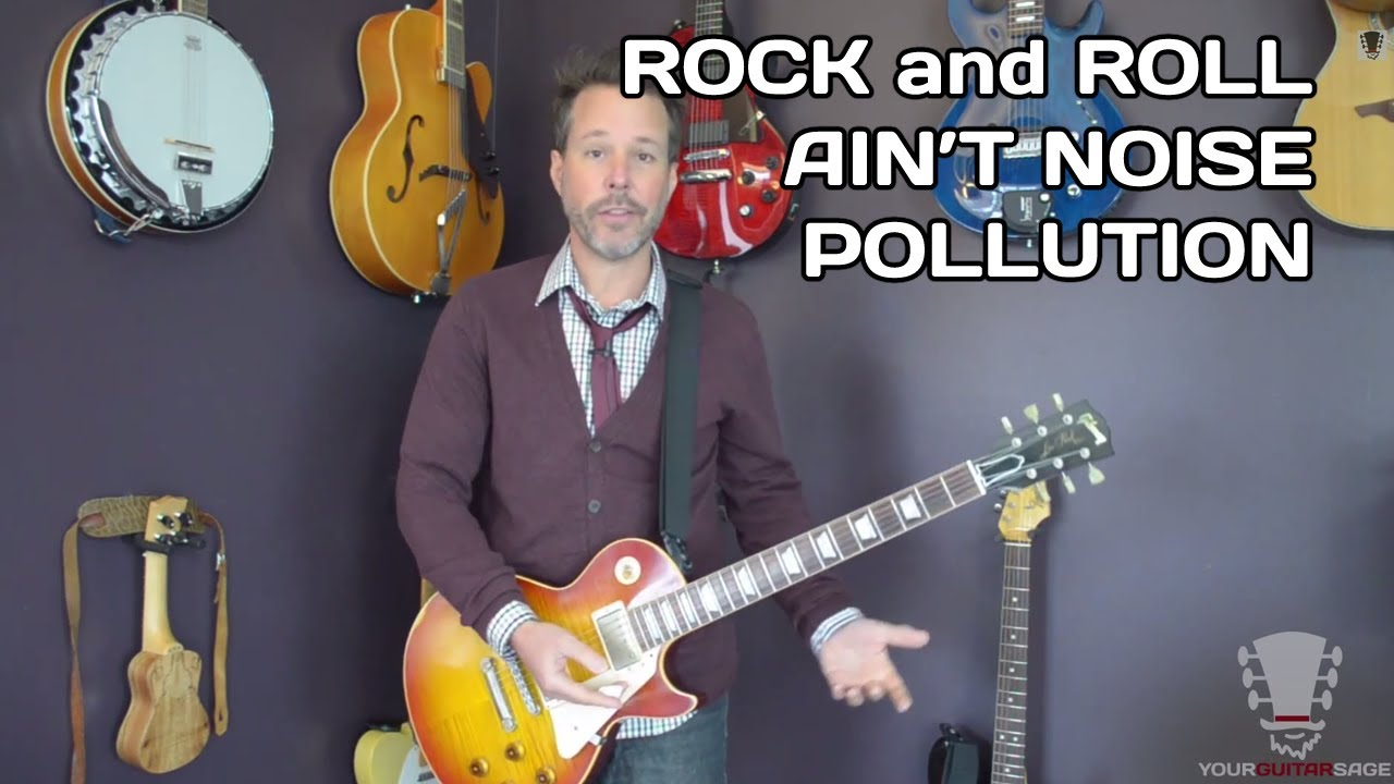 how to play rock and roll ain 39 t noise pollution ac dc guitar lesson youtube. Black Bedroom Furniture Sets. Home Design Ideas