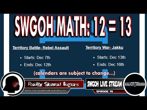 SWGOH Live Stream Episode 78: SWGOH Math: 12=13 | Star Wars: Galaxy of Heroes #swgoh