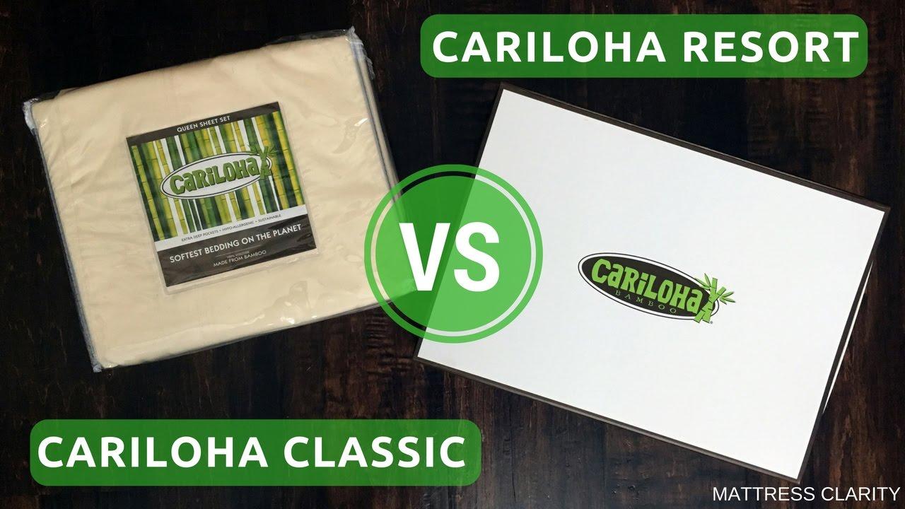 cariloha classic vs resort battle of the bamboo sheets mattress clarity