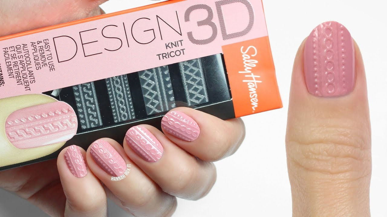 How To Use Sally Hansen\'s Design 3D Nail Stickers! - YouTube