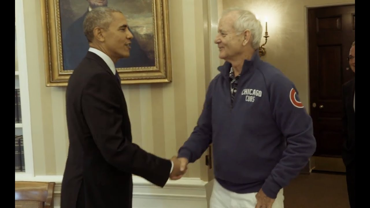 Bill Murray Visits Obama At Oval Office - YouTube