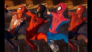 "Peter Crafts the Advanced Suit Cutscene (With ""Almost"" Every Suit + All DLC Suits)"