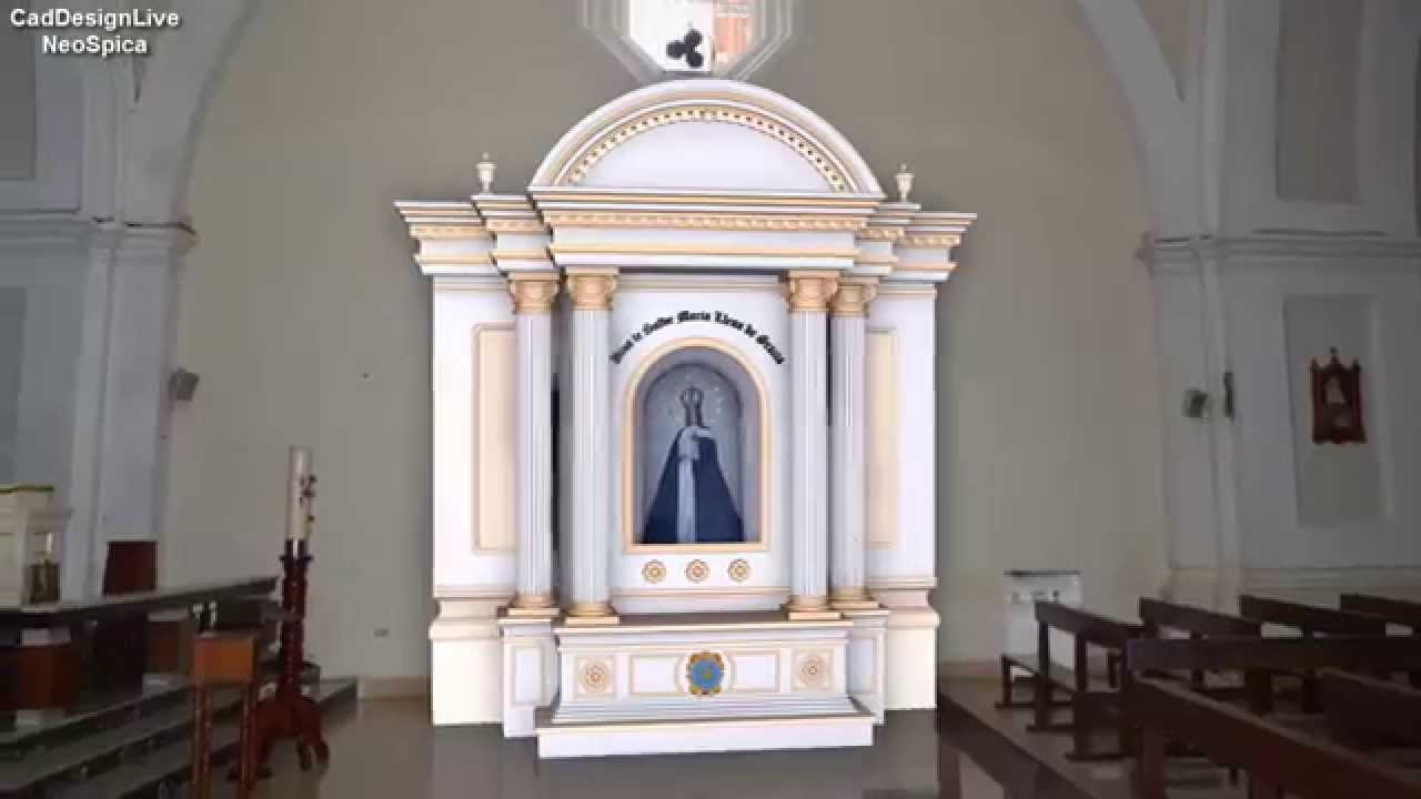 Church Altar Design 3D / Chapel Church 3D - YouTube