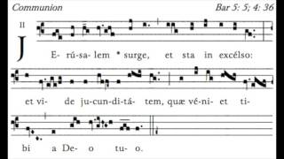 Communion Antiphon for the 2nd Sunday of Advent (with Psalm verses).