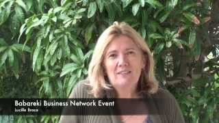 Babareki Business Networking Events testimonial- Lucille Brace
