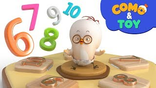 Como | Número de Cupones de B | Aprender los Números 6-10 | vídeo de dibujos animados para niños | Como de TV de los Niños