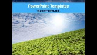 Tea Plantation PowerPoint Template Backgrounds - DigitalOfficePro #06526
