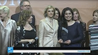 إيمان الشريف شابة تونسية فازت بجائزة إمارة موناكو لامرأة العام 2016