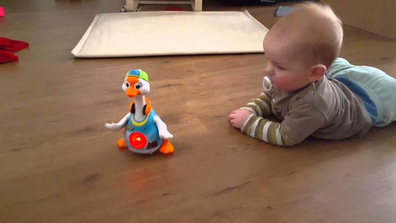 Baby Nick meets hip-hop goose - YouTube