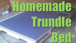Homemade Trundle Bed Made From Pallets | Diy