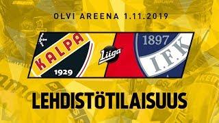 Lehdistötilaisuus, KalPa - HIFK, 1.11.2019