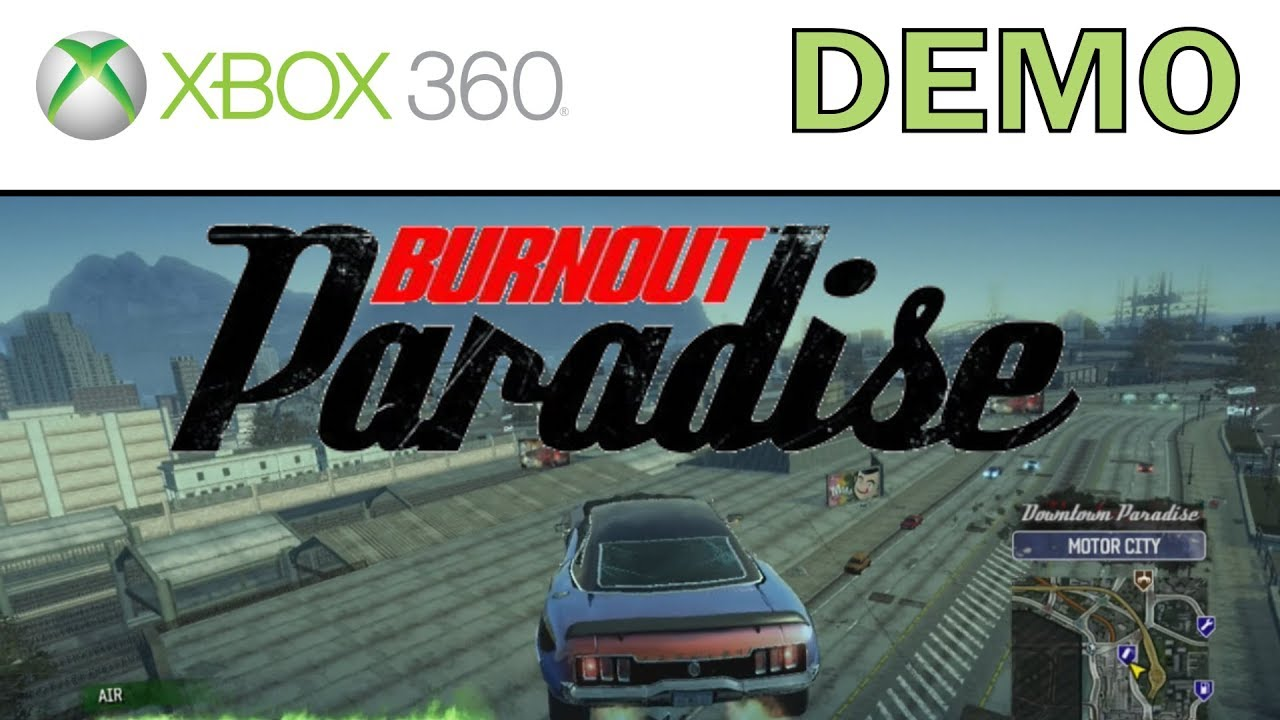 Burnout paradise xbox 360 demo (xbox live download) youtube.