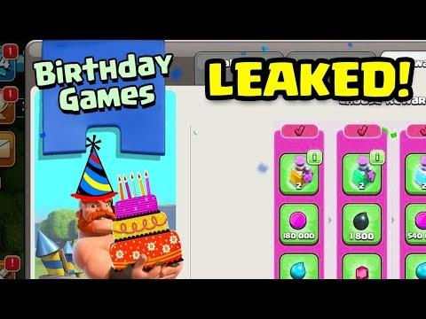 NEW UPDATE LEAK: Birthday Games!   Clash of Clans August 2018 Clashiversary Update CoC