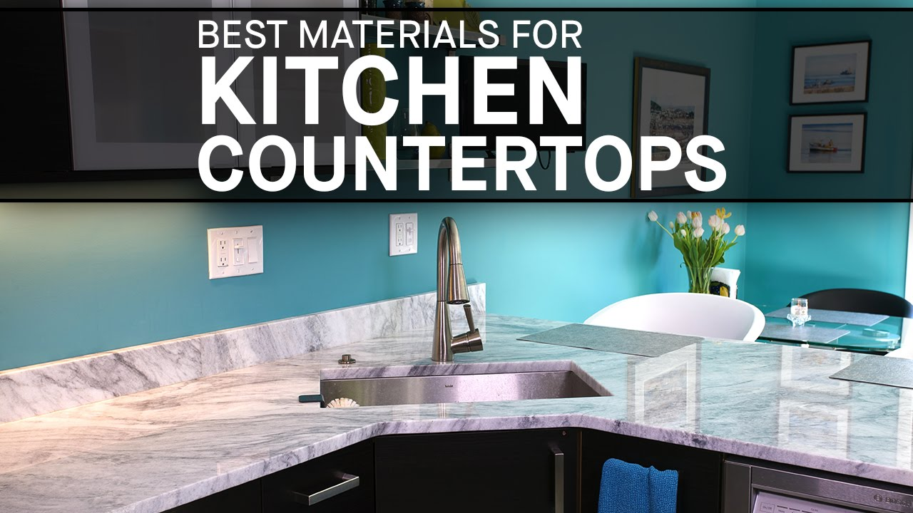Best Materials for Kitchen Countertops | Marble.com - YouTube