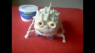homemade robot made of polymorph (полиморфус)
