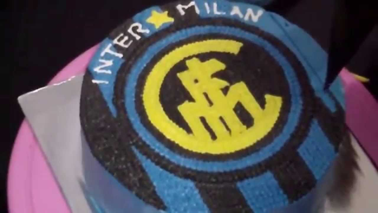 abbastanza How to Easy Decorate Inter Milan Logo Cake - YouTube OU21