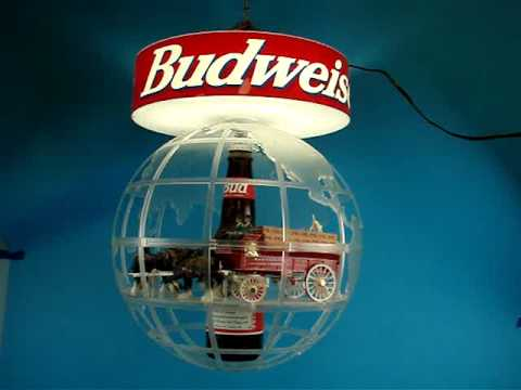 Demo of Budweiser rotating lamp