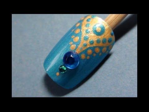 Indian Inspired Nail Art Tutorial