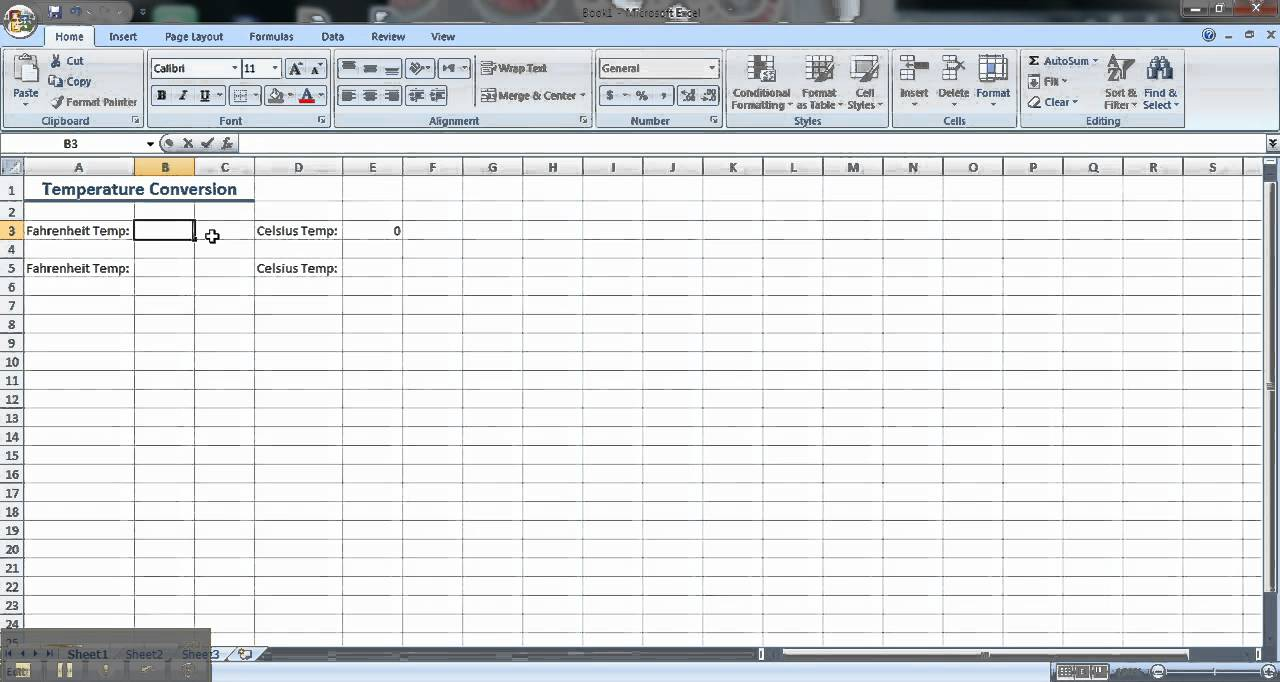 Excel tutorial how to convert temperatures youtube excel tutorial how to convert temperatures geenschuldenfo Images