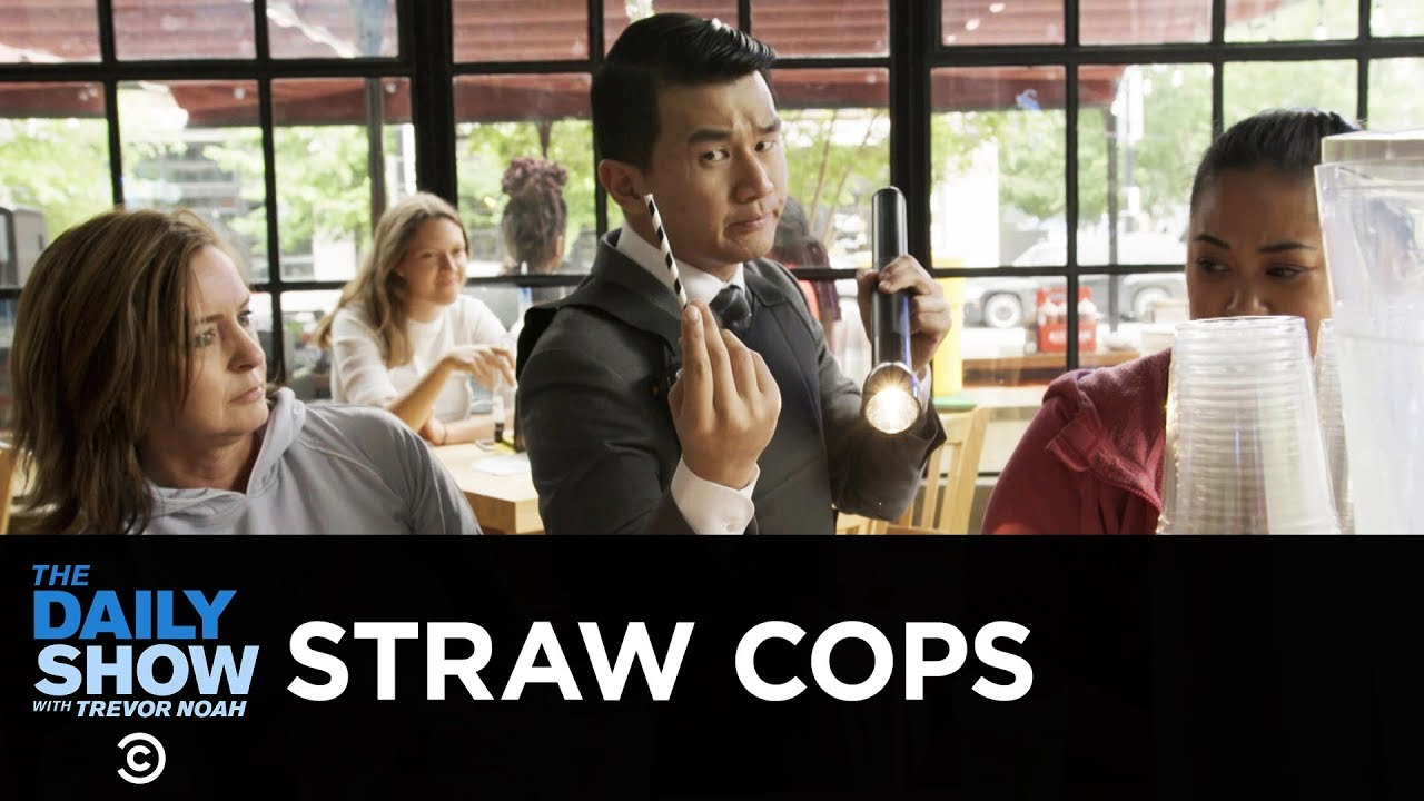 A Straw Cop Enforces Washington, D.C.'s Plastic Straw Ban | The Daily Show