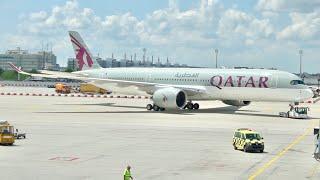 Qatar Airways Business Class Review - Airbus A350 XWB + Al Mourjan Business Class Lounge