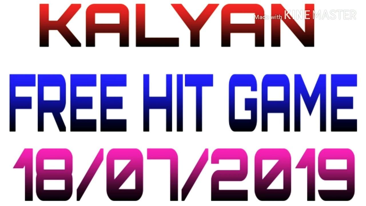 18/07/2019/KALYAN FREE HIT GAME SATTA MATKA DP RAJ