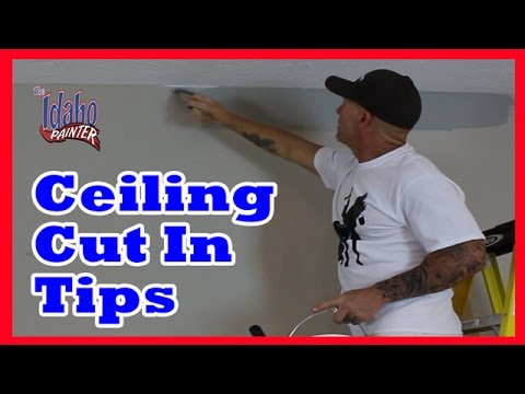 HOW TO CUT IN CEILINGS. DIY home improvement cut-in hacks and tips - 동영상