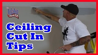 HOW TO CUT IN CEILINGS.  DIY home improvement cut-in hacks and tips