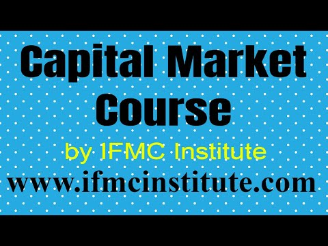 Capital Market Course ll IFMC institute ll