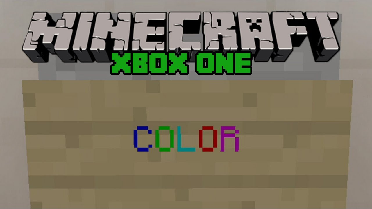 Minecraft Xbox One Secret Colored Text On Signs Easy Tutorial Minecraft Colors