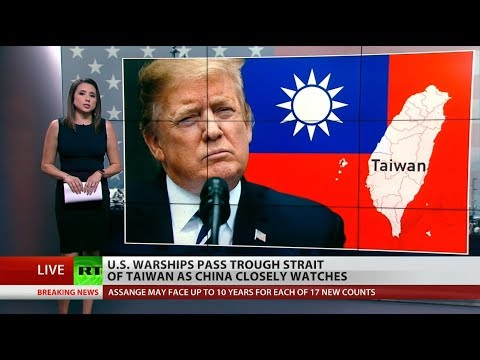 US Nudges China By Sending Warships To Taiwan Strait