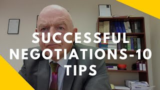10 Tips for Succęssful Negotiations-How to Negotiate