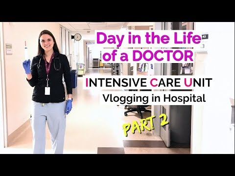 DAY IN THE LIFE OF A DOCTOR: Intensive Care Unit, Vlogging in Hospital  PART 2