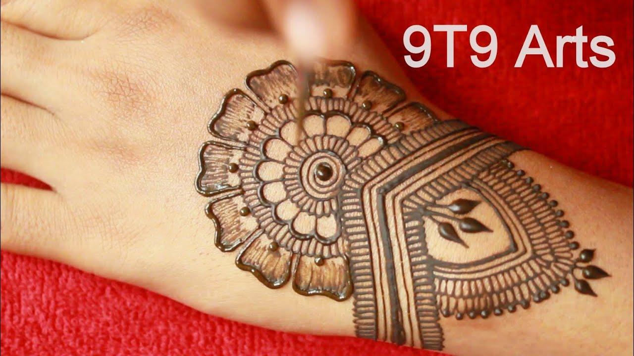 Latest New Style Jewellery Mehndi Design Back Hand||Rakhi Shaded Arabic Mehndi Design||Simple Mehndi