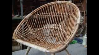 How To Restore a Cane Saucer Chair Pt.2.