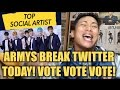 bts army guide how to break twitter today?