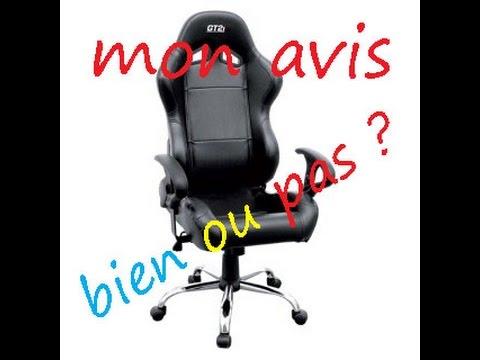 TEST - Mon avis sur le fauteuil de bureau gamer GT2I Fr Hd